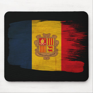 Andorra Flag Mouse Pad