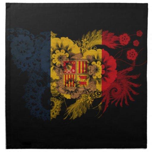 Andorra Flag Napkin