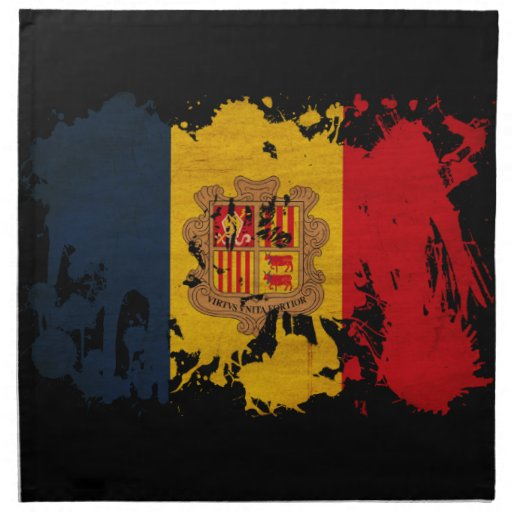 Andorra Flag Printed Napkin