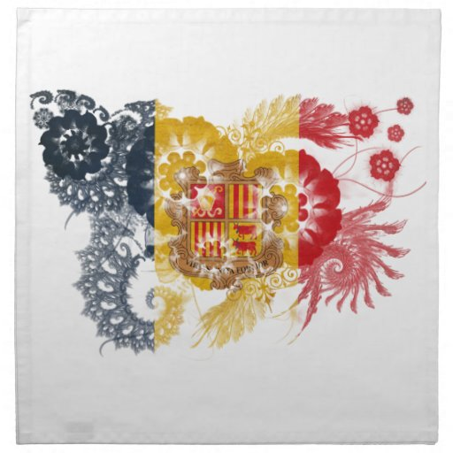 Andorra Flag Cloth Napkins