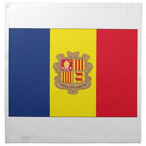 Andorra Flag Printed Napkins