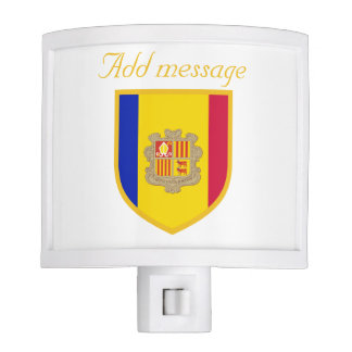 Andorra Flag Nite Lights