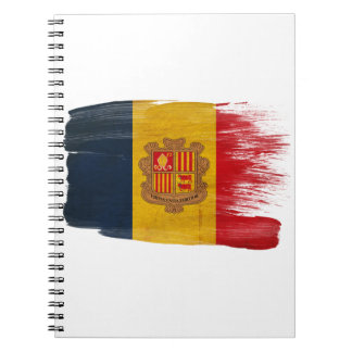 Andorra Flag Spiral Note Books