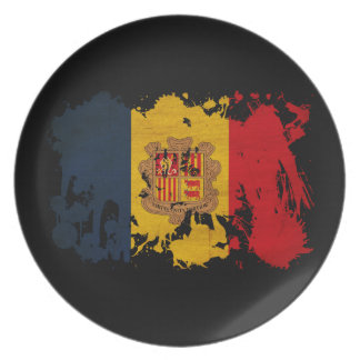 Andorra Flag Party Plate