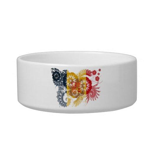 Andorra Flag Cat Bowl