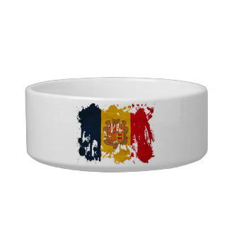 Andorra Flag Pet Food Bowl