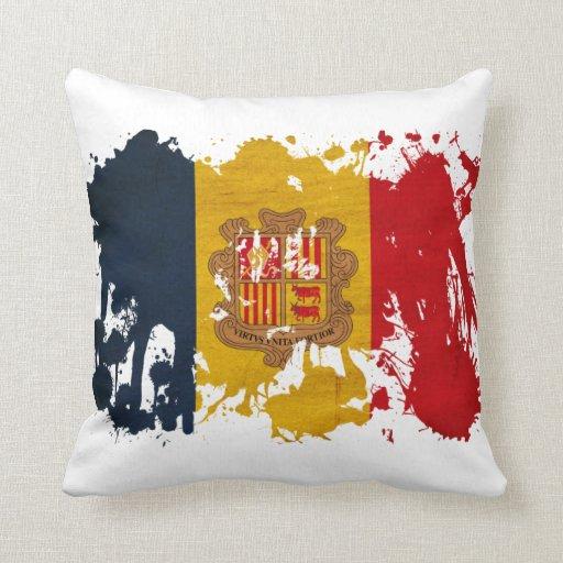 Andorra Flag Throw Pillows