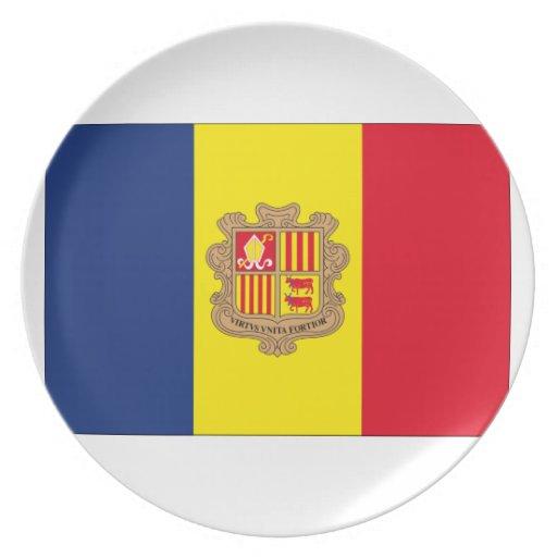Andorra Flag Dinner Plates