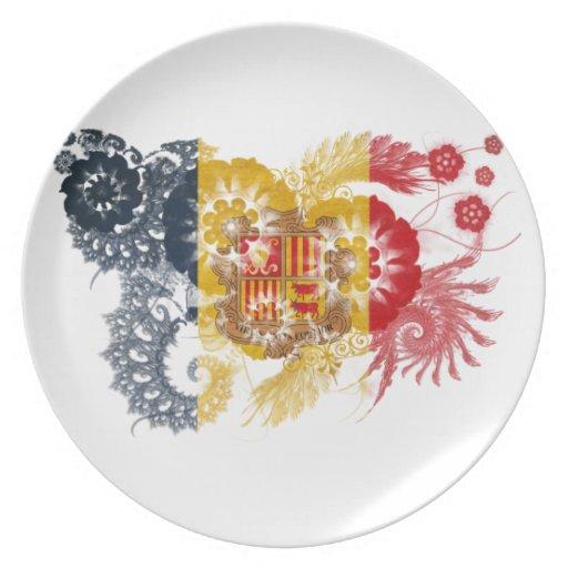 Andorra Flag Dinner Plate
