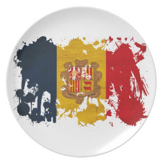 Andorra Flag Party Plates