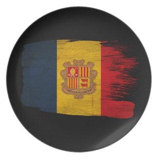 Andorra Flag Plate