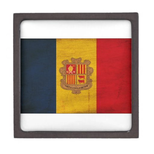 Andorra Flag Premium Keepsake Box