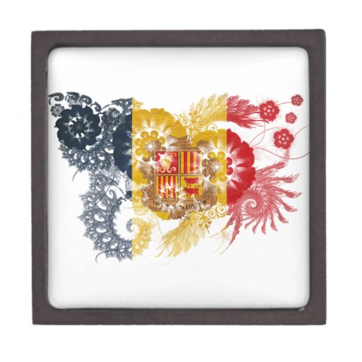 Andorra Flag Premium Jewelry Boxes