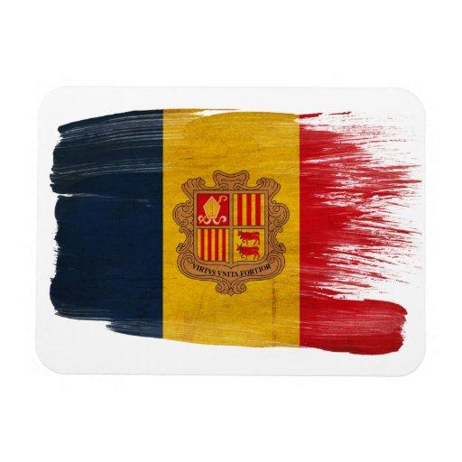 Andorra Flag Rectangle Magnets