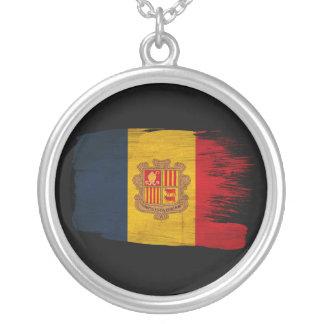 Andorra Flag Round Pendant Necklace