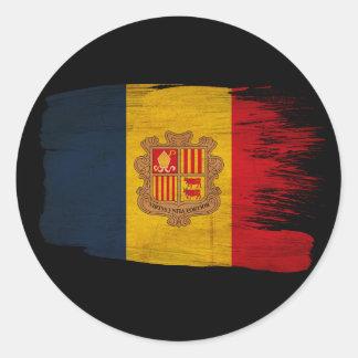 Andorra Flag Round Sticker