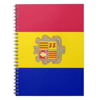 Andorra Flag Spiral Notebook