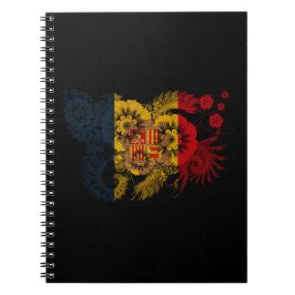 Andorra Flag Spiral Notebook