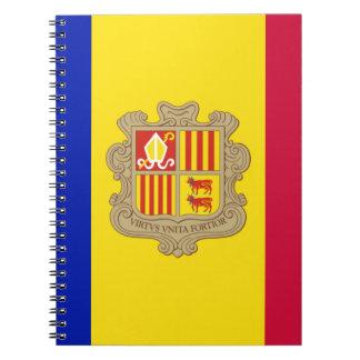 Andorra Flag Spiral Notebooks
