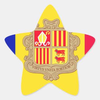 Andorra Flag Star Sticker