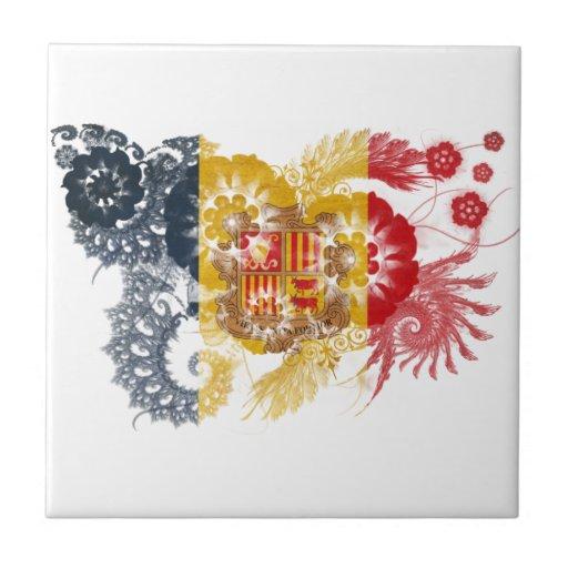 Andorra Flag Tiles