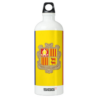 Andorra Flag Water Bottle