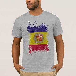 Andorra Grunge Flag T-Shirt