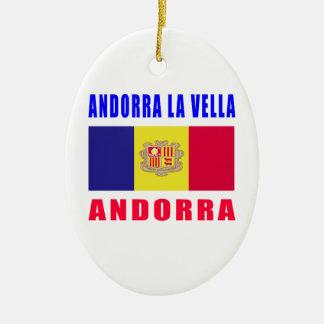 Andorra La Vella Andorra capital designs Ceramic Ornament