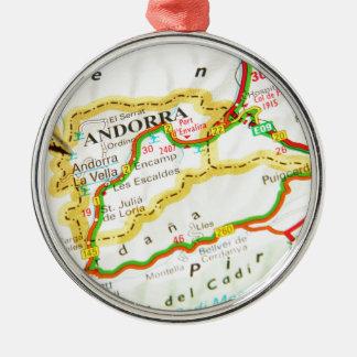 Andorra la Vella, Andorra Metal Ornament