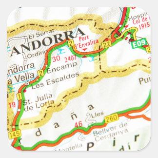 Andorra la Vella, Andorra Square Sticker