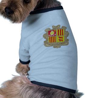 Andorra Official Coat Of Arms Heraldry Symbol Pet Shirt