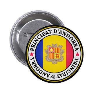 Andorra Round Emblem 2 Inch Round Button
