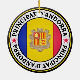 Andorra Round Emblem Ceramic Ornament