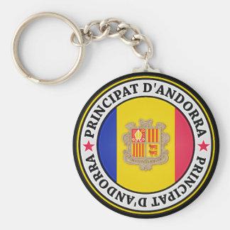 Andorra Round Emblem Keychain