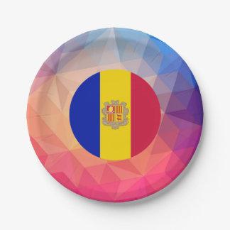 Andorra Souvenir 7 Inch Paper Plate