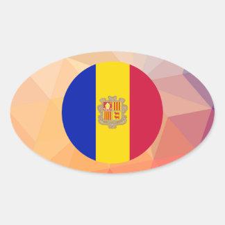 Andorra Souvenir Oval Sticker