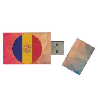 Andorra Souvenir Wood USB 2.0 Flash Drive