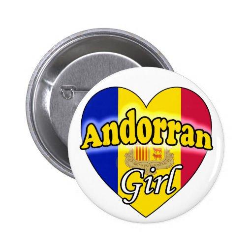 Andorran Girl Pinback Button