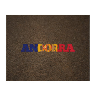 Andorran name and flag photo cork paper