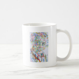 andre breton - watercolor portrait coffee mug