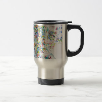 andre breton - watercolor portrait travel mug