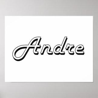 Andre Classic Retro Name Design Poster
