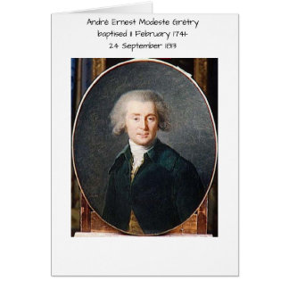 André Ernest Modeste Gretry Card
