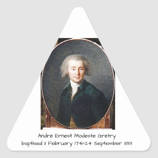 André Ernest Modeste Gretry Triangle Sticker