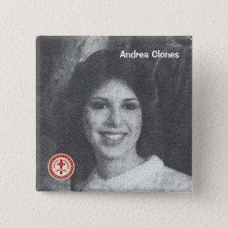 Andrea Clones 2 Inch Square Button