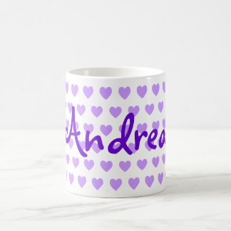 Andrea in Purple Coffee Mug