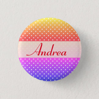 Andrea name plate Anstecker 1 Inch Round Button