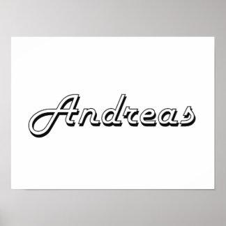 Andreas Classic Retro Name Design Poster