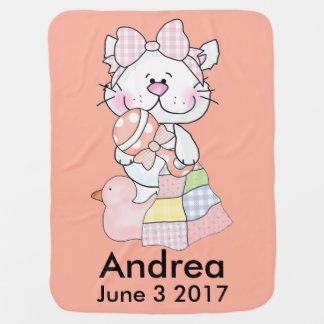 Andrea's Personalized Kitty Baby Blanket