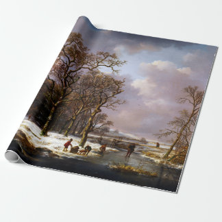 Andreas Schelfhout Winter Landscape Wrapping Paper